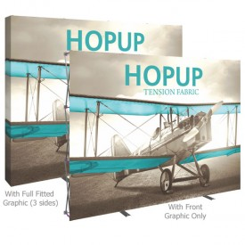 HopUp 10 ft. Straight Full Height Tension Fabric Display