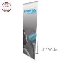 """Lightning Spring Back Banner Stand - 31"""" wide"""