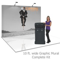 Coyote 10 ft Straight Pop Up Display - Graphic Mural Kit