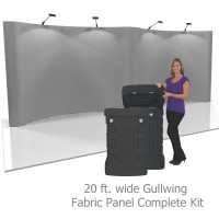 Coyote 20 ft Gullwing Pop Up Display - Fabric Panels Kit