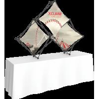 Xclaim 8ft. Wide Tabletop Pyramid Pop Up Display Kit 01