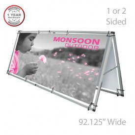 "Monsoon Outdoor Banner Stand - 2-Sided, 92"" Wide"
