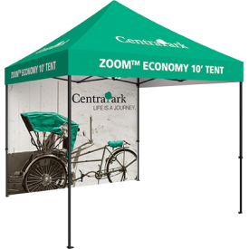Zoom 10 ft. PopUp Tent Kit - Printed Canopy & Full Wall