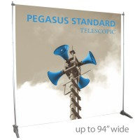 "Pegasus Standard Telescopic Banner Stand - 94"" wide"