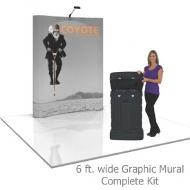 Coyote 6 ft Curved Full Height Pop Up Display - Graphic Mural Complete Kit