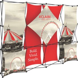 Xclaim 10ft. Wide Full Height Pop Up Display Kit 01