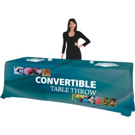 Convertible Full Color Printed Table Cover fits 6 & 8 ft. Table Sizes