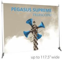 """Pegasus Supreme Telescopic Banner Stand - 117.5"""" wide"""
