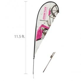 Zoom Flex Custom Printed Teardrop Flag Set - 11.5 ft.