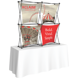 Xclaim 5ft. Wide Tabletop Pop Up Display Kit 04