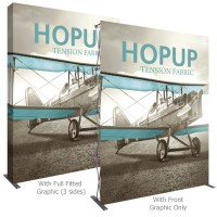 HopUp 8 ft. Straight Extra Tall Full Height Tension Fabric Display