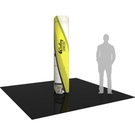 Inflatable Display Medium Column 95.5in tall with Graphics