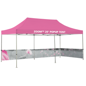 Zoom 20ft. PopUp Tent Kit - Printed Canopy and Half Wall Kits