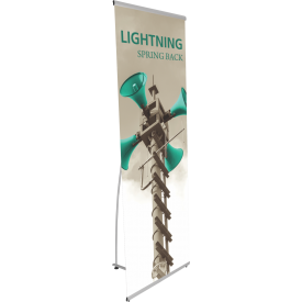 "Lightning Spring Back Banner Stand - 31"" wide"