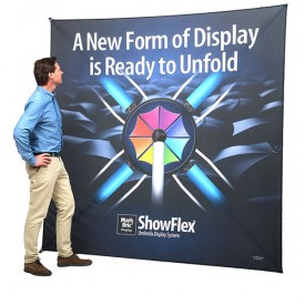 "ShowFlex Umbrella Tension Fabric Backwall - 92"" x 92"" (Square)"