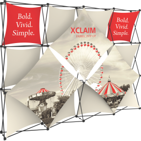 Xclaim 10ft. Wide Full Height Pop Up Display Kit 05