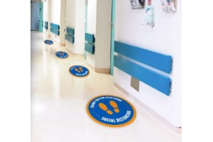 Footprint Social Distancing Circle Floor Decals