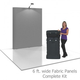 Coyote 6 ft Straight Full Height Pop Up Display - Fabric Panels Complete Kit