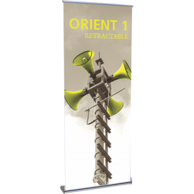 "Orient 800 Roll Up Retractable Indoor Banner Stand - 31.5"" wide"