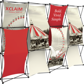 Xclaim 10ft. Wide Full Height Pop Up Display Kit 03
