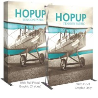 HopUp 5 ft. Straight Full Height Tension Fabric Display