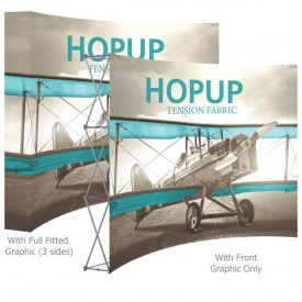 HopUp 10 ft. Curved Full Height Tension Fabric Display