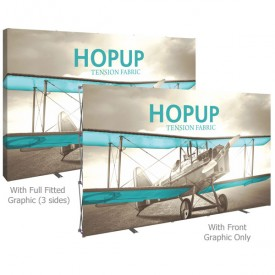 HopUp 13 ft. Straight Full Height Tension Fabric Display