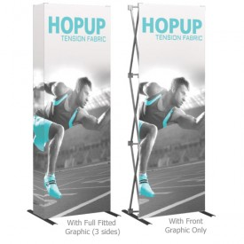 HopUp 2.5 ft. Straight Full Height Tension Fabric Display