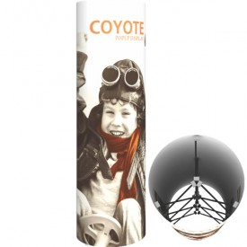 Coyote 7.25 ft. Tall Circular Tower - Full Graphic Kit