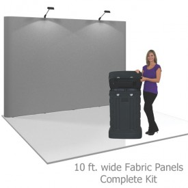 Coyote 10 ft Straight Pop Up Display - Fabric Panels Kit