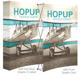 HopUp 5.5 ft. Curved Full Height Tension Fabric Display