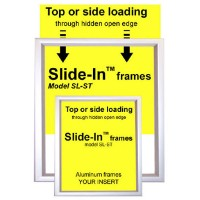 Slide-In Aluminum Poster Frame Displays - Quick Change