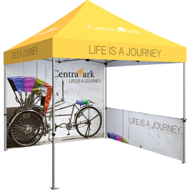Zoom 10ft. PopUp Tent Kit - Printed Canopy, Full Wall, Half Wall