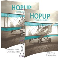 HopUp 8 ft. Curved Full Height Tension Fabric Display