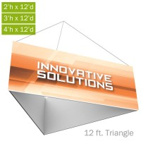 Formulate Essential Fabric Hanging Structure - 12 ft. Triangle