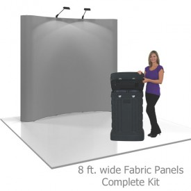 Coyote 8 ft Curved Full Height Pop Up Display - Fabric Panels Complete Kit