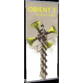 """Orient 920 Roll Up Retractable Indoor Banner Stand - 35.5"""" wide"""