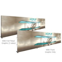 HopUp 30 ft. Straight Full Height Tension Fabric Display