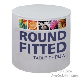 Round Fitted Full Color Dye-Sub Printed Table Covers