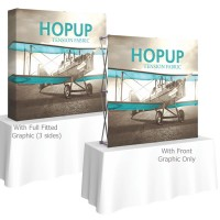 HopUp 5 ft. Straight Square Tabletop Tension Fabric Display