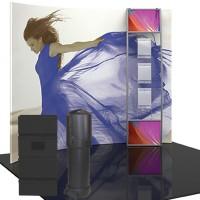 Formulate Master 10 ft. HC4 Horizontal Curve Fabric Backwall
