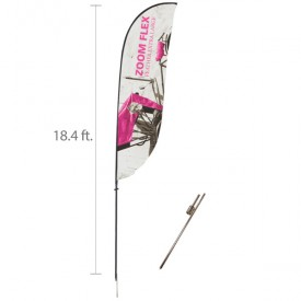 Zoom Flex Custom Printed Feather Flag Set - 18.4 ft.
