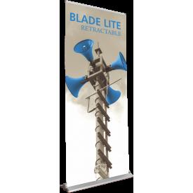 "Blade Lite 850 Roll Up Retractable Indoor Banner Stand - 33.5"" wide"