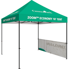 Zoom 10 ft. PopUp Tent Kit - Printed Canopy & Half Wall Kit
