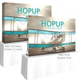 HopUp 7.5 ft. Straight Tabletop Tension Fabric Display