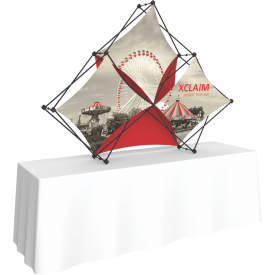 Xclaim 8ft. Wide Tabletop Pyramid Pop Up Display Kit 02