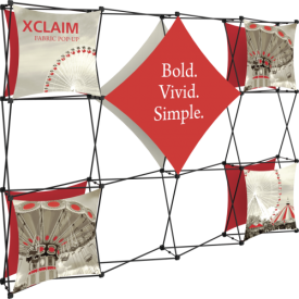 Xclaim 10ft. Wide Full Height Pop Up Display Kit 02