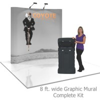 Coyote 8 ft Curved Pop Up Display - Graphic Mural Kit