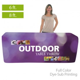 Outdoor Fitted Full Color Dye-Sub Printed Table Covers for 6 ft. and 8 ft. Table Sizes