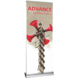 "Advance 800 2-Sided Pull-Up Banner Stand - 31.5"" wide"